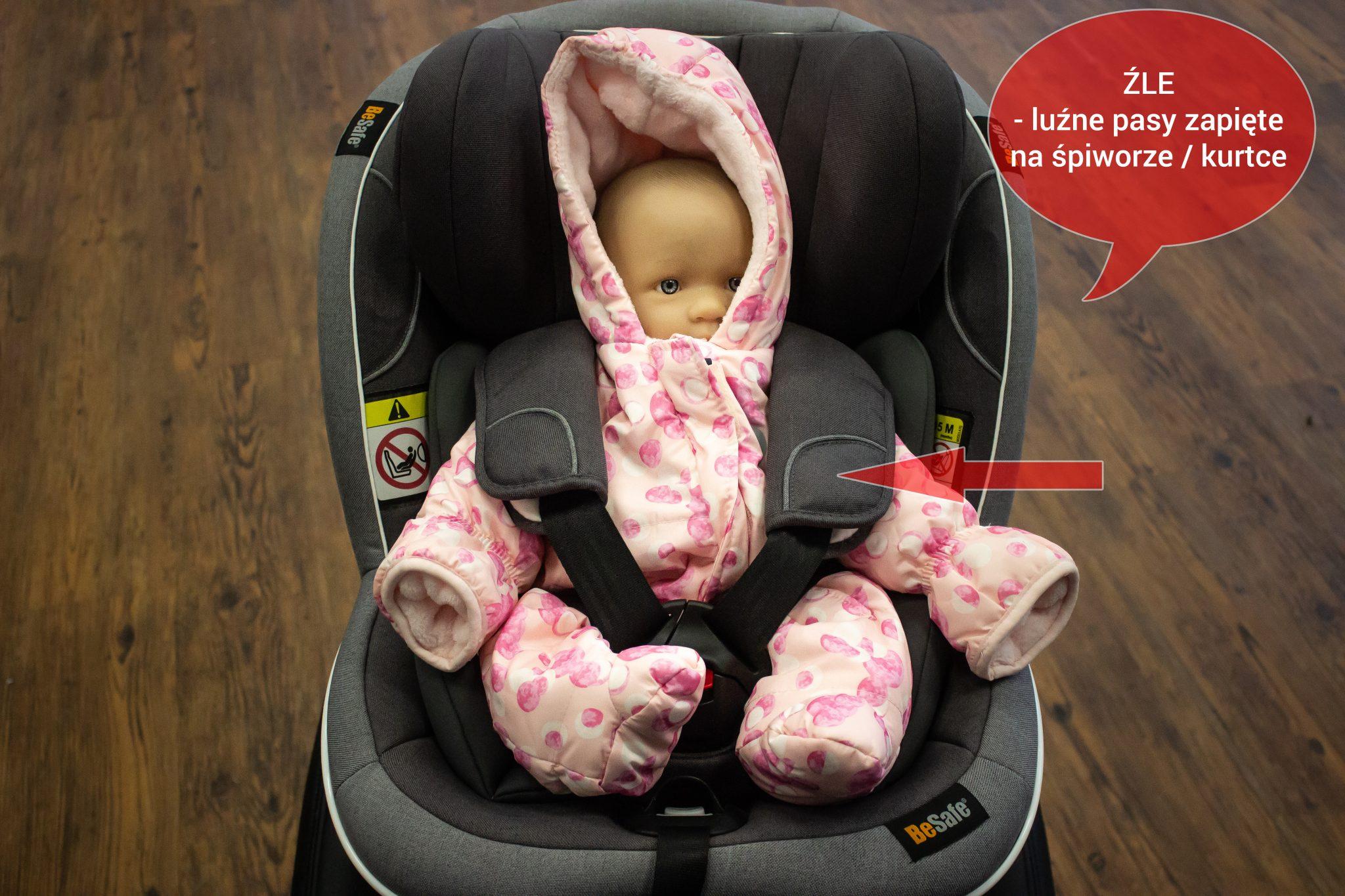 dlaczego nie wozić dziecka w kurtce