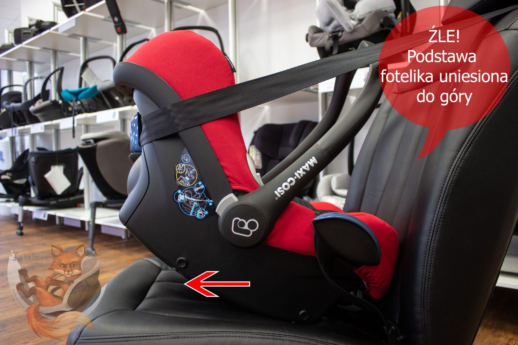 jak zamontować fotelik dla noworodka