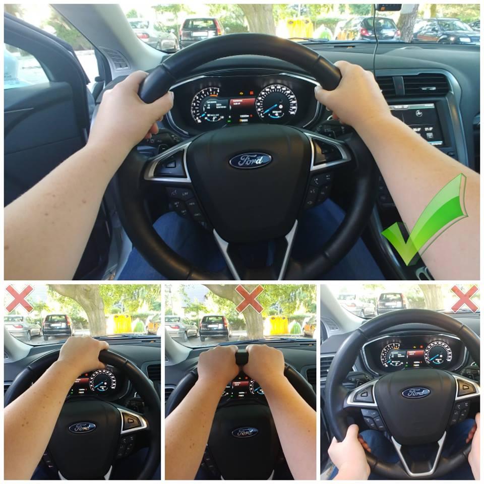 jak trzymać kierownicę