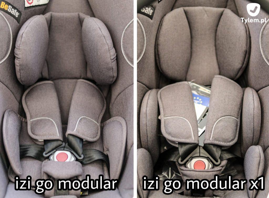 Besafe izi Go Modular vs izi Go Modular X1 - różnica we wkładce dla niemowlaka